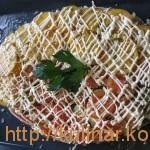 Рыба, запеченная под овощами