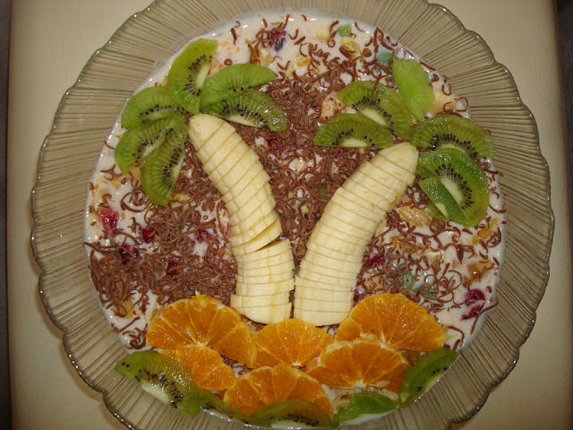 Украсить торт фруктами домашних условиях