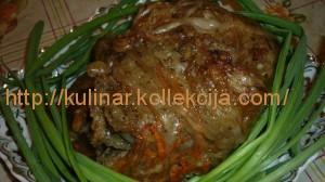 Свиная печень в жировой сетке