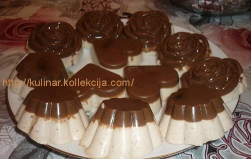 рецепт десерту желе молочно шоколадне