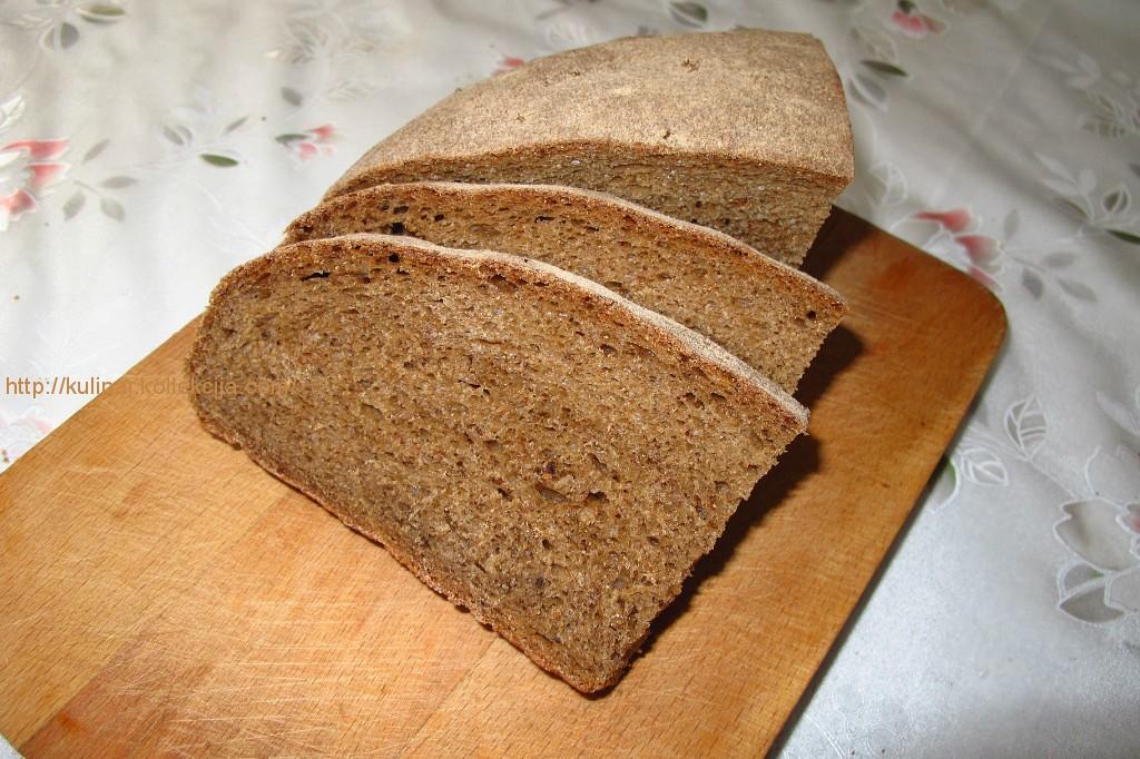 Хлеб домашний ржаной без дрожжей