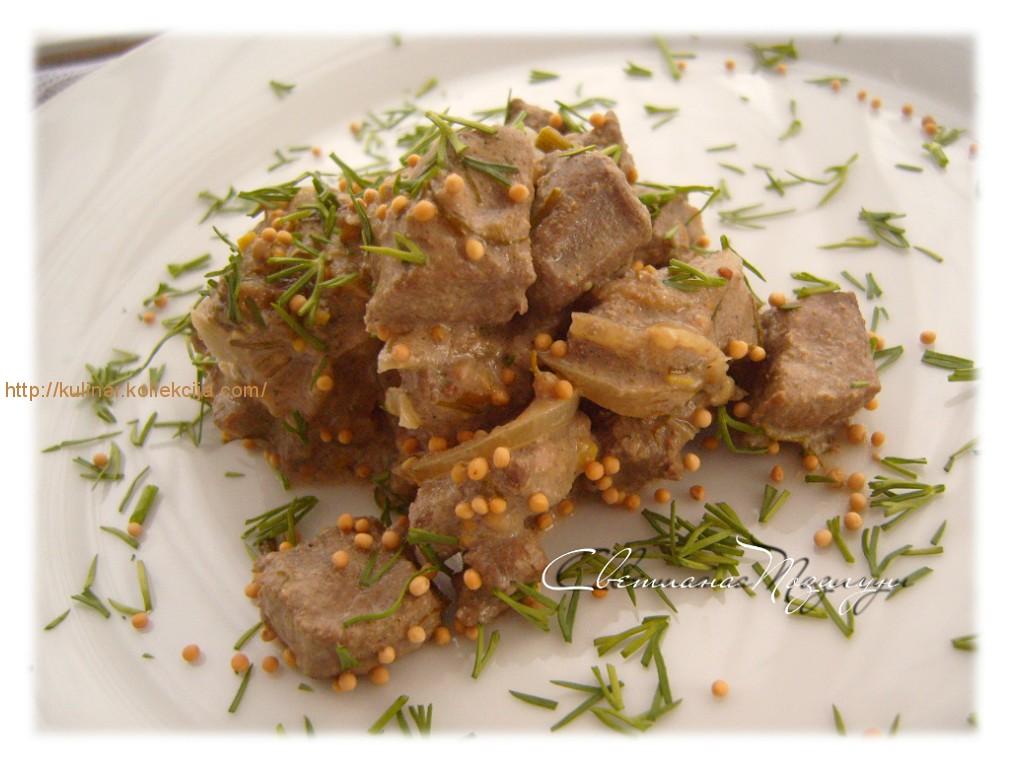 Рецепт печени говяжьей в сметане мягкая