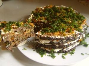 Печеночный закусочный торт