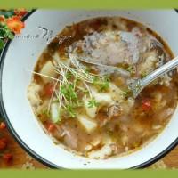 Вермишелевый суп с помидорами