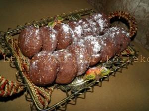 шоколадно-кунжутное печенье