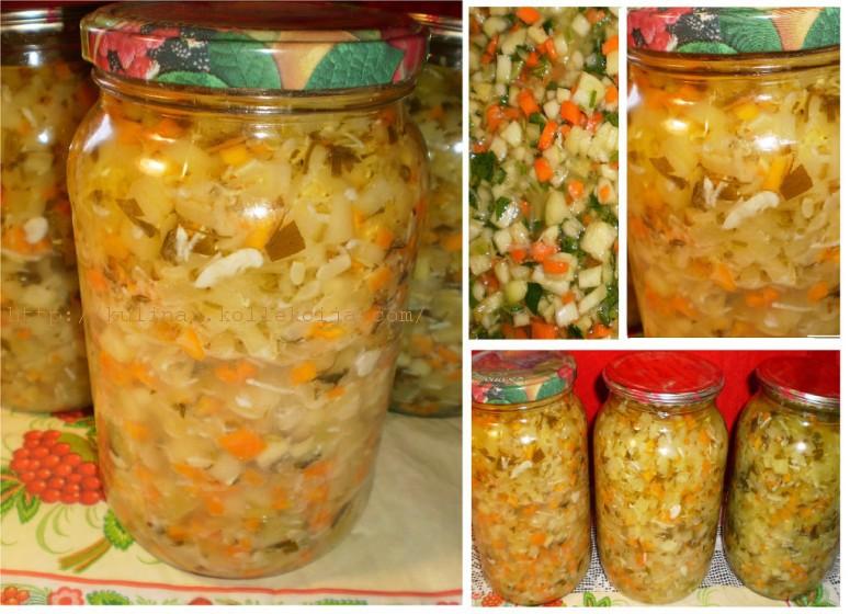 Консервация салатов на зиму без стерилизации с фото