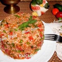 Теплый салат с перцем