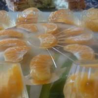 Желе с мандаринами