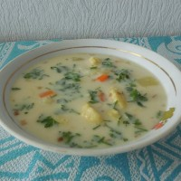 Сырный суп с галушками