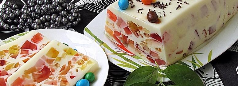 торт-желе Мозаика