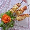 Картошка с салом на шпажке