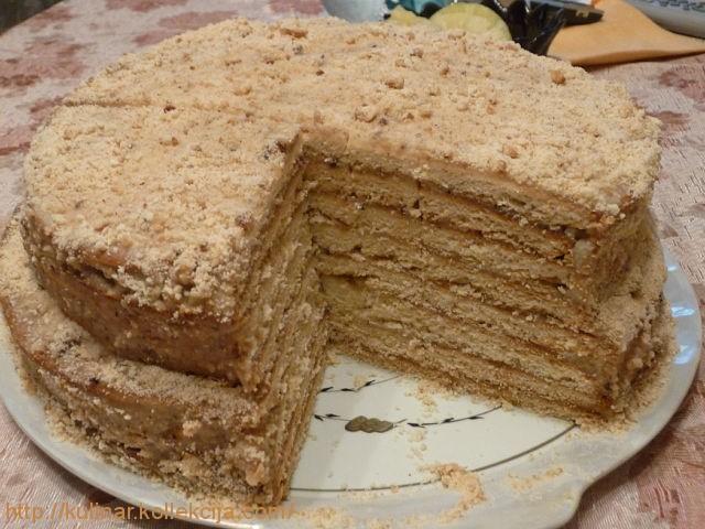 приготовление торта медовик,