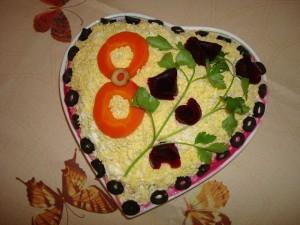Овощной слоеный торт