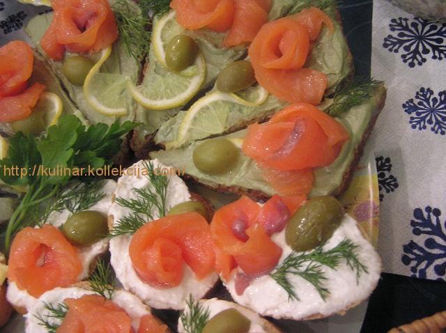 Красивые бутерброды с красной рыбой