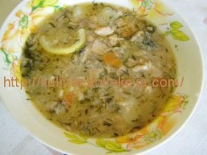 Суп из свежей семги