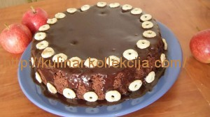 Яблочно-шоколадный кекс