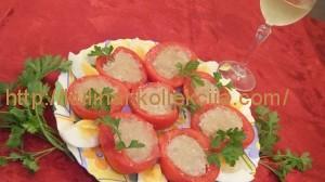 Закуска из фаршированных помидоров
