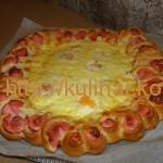 Пицца цветок