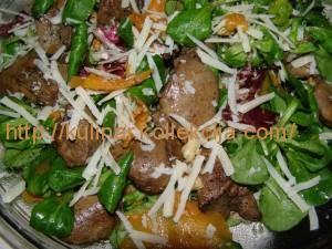 Салат из печени с тыквой