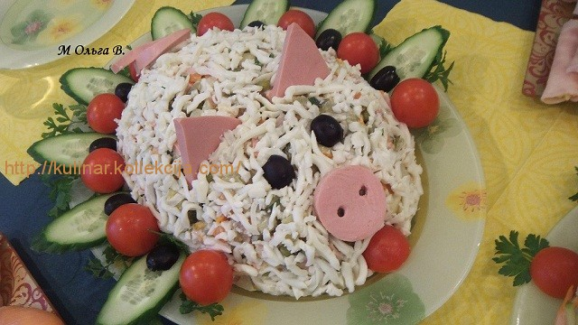 салат оливье классический на новый год