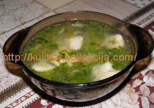 Суп куриный с консервированной фасолью