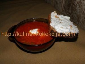 Борщ с килькой и фасолью