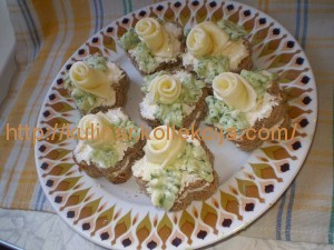 Бутерброд Белые розы