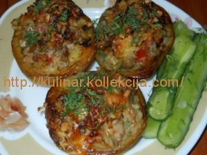 Рецепт фаршированной картошки