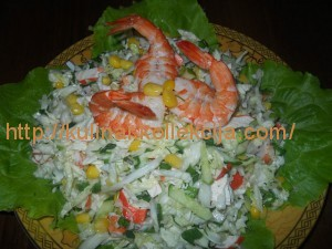 Рецепт салата Морской бриз