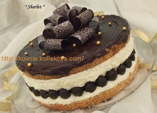 Бисквитный торт с суфле