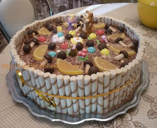 Рецепт торта Маша и Медведь