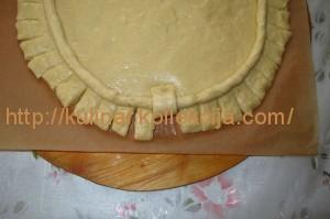 Открытый пирог с творогом