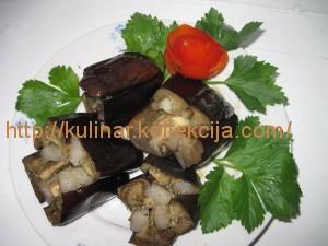 баклажаны с салом в духовке