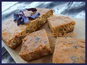 Томатный кекс с сыром и базиликом