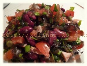 Салат с морской капустой и морковью