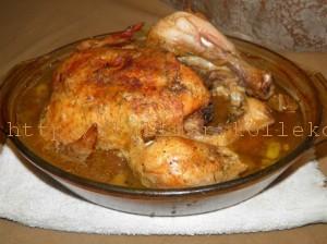 Курица в духовке по-французски