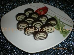 шоколадные рулеты без выпечки
