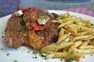 итальянские макароны с говядиной