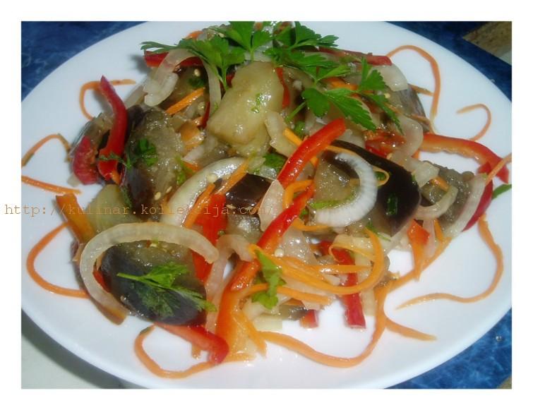 салат из баклажан в маринаде