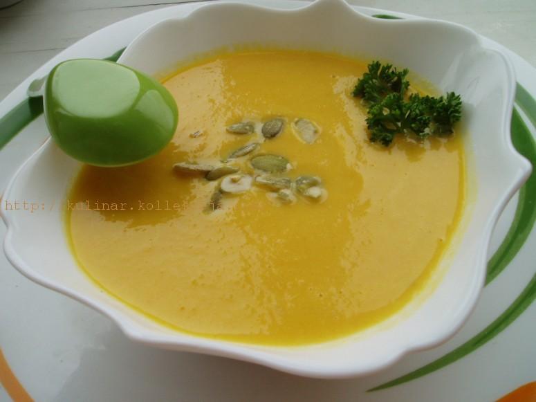 суп-пюре из тыквы с имбирем