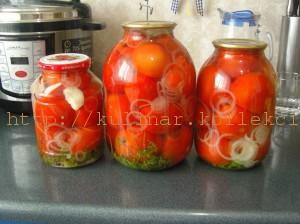 Маринованные помидоры на зиму - рецепт