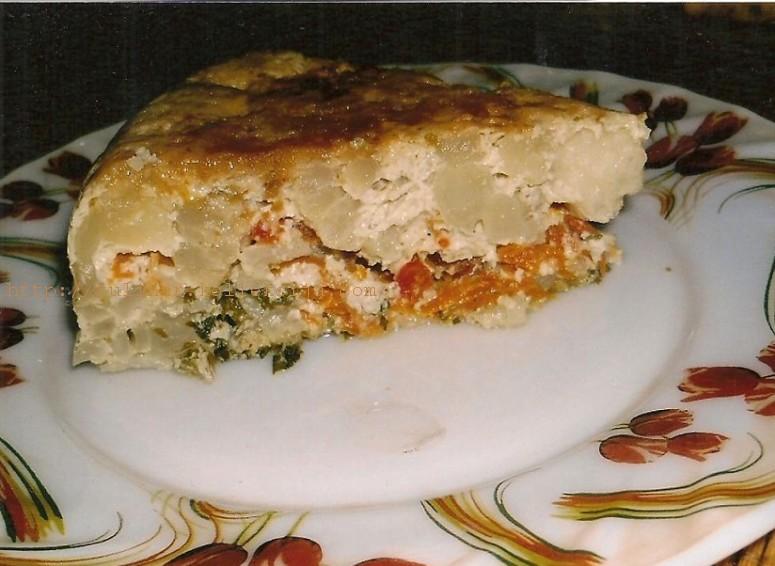 пирог из цветной капусты в мультиварке