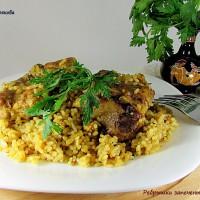 Ребрышки с рисом в духовке