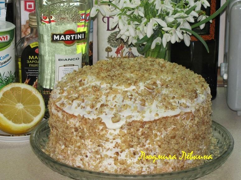 Простой домашний бисквитный торт