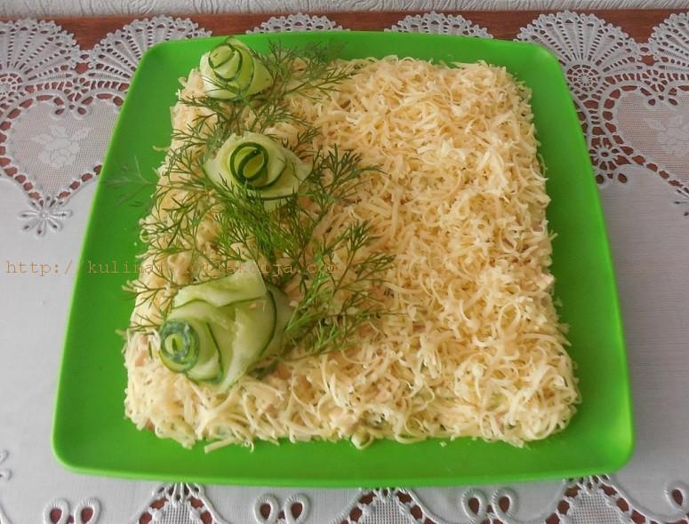 Быстрый салат с ветчиной
