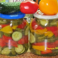 салат из огурцов, помидоров и перца на зиму